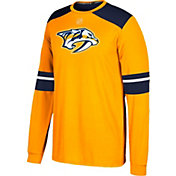 adidas Men's Nashville Predators Jersey Gold Long Sleeve Shirt