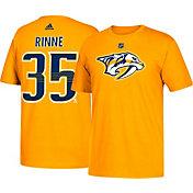 adidas Men's Nashville Predators Pekka Rinne #35 Gold T-Shirt