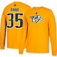 adidas Men's Nashville Predators Pekka Rinne #35 Gold Long Sleeve Shirt