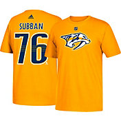adidas Men's Nashville Predators P.K. Subban #76 Gold T-Shirt