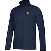 adidas Men's Nashville Predators Logo Ultimate Navy Performance Quarter-Zip Pullover