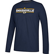 adidas Men's Nashville Predators Local Dassler Navy Performance Long Sleeve Shirt