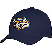 adidas Men's Nashville Predators Team Colored Basic Structured Navy Flex Hat