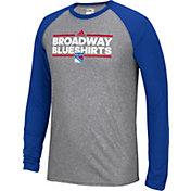 adidas Men's New York Rangers Dassler Local Ultimate Grey/Royal Performance Long Sleeve Shirt