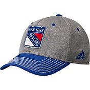 adidas Men's New York Rangers Two-Color Heather Grey/Royal Snapback Adjustable Hat