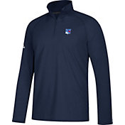 adidas Men's New York Rangers Secondary Logo Ultimate Navy Performance Quarter-Zip Pullover