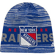 adidas Men's New York Rangers Locker Room Royal Knit Beanie