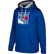 adidas Men's New York Rangers Royal Performance Pullover Hoodie