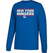 adidas Men's New York Rangers Dassler Royal Long Sleeve Shirt