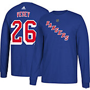 adidas Men's New York Rangers Jimmy Vesey #26 Royal Long Sleeve Shirt
