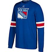 adidas Men's New York Rangers Jersey Royal Long Sleeve Shirt