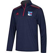adidas Men's New York Rangers Navy Performance Quarter-Zip Jacket