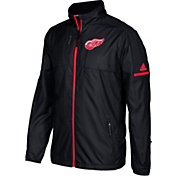 adidas Men's Detroit Red Wings Authentic Rink Black Full-Zip Jacket