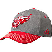 adidas Men's Detroit Red Wings Two-Color Heather Grey/Red Snapback Adjustable Hat