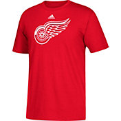 adidas Men's Detroit Red Wings Big Logo Red T-Shirt