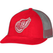 CCM Men's Detroit Red Wings Trucker Red Mesh Adjustable Hat