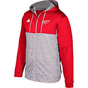 adidas Men's Detroit Red Wings Red/Grey Full-Zip Hoodie