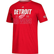 adidas Men's Detroit Red Wings Centennial Lining Red Performance T-Shirt