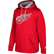 adidas Men's Detroit Red Wings Red Performance Pullover Hoodie