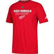adidas Men's Detroit Red Wings Authentic Ice Ultimate Red Performance T-Shirt