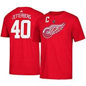 adidas Men's Detroit Red Wings Henrik Zetterberg #40 Red T-Shirt