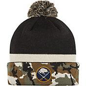adidas Men's Buffalo Sabres Logo Camo Pom Knit Beanie