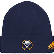 adidas Men's Buffalo Sabres Basic Navy Knit Beanie