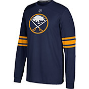 adidas Men's Buffalo Sabres Jersey Navy Long Sleeve Shirt