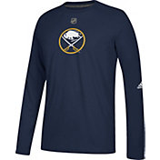 adidas Men's Buffalo Sabres Primary Position Ultimate Navy Long Sleeve Shirt