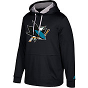 adidas Men's San Jose Sharks Black Performance Pullover Hoodie