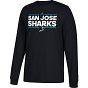 adidas Men's San Jose Sharks Dassler Black Long Sleeve Shirt