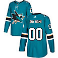 adidas Men's Custom San Jose Sharks Authentic Pro Home Jersey