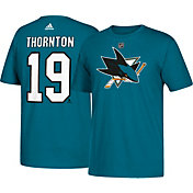 adidas Men's San Jose Sharks Joe Thornton #19 Teal T-Shirt