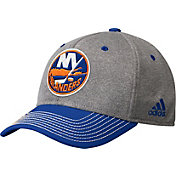 adidas Men's New York Islanders Two-Color Heather Grey/Royal Snapback Adjustable Hat
