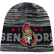 adidas Men's Ottawa Senators Locker Room Grey Knit Beanie