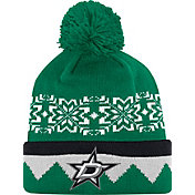 adidas Men's Dallas Stars Ugly Sweater Green Pom Knit Beanie