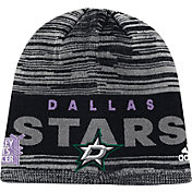 adidas Men's Dallas Stars Hockey Fights Cancer Grey Knit Beanie