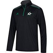adidas Men's Dallas Stars Black Performance Quarter-Zip Jacket