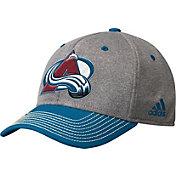 adidas Men's Colorado Avalanche Two-Color Heather Grey/Maroon Snapback Adjustable Hat
