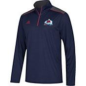 adidas Men's Colorado Avalanche Navy Performance Quarter-Zip Jacket
