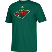 adidas Men's Minnesota Wild Big Logo Green T-Shirt