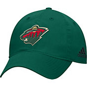 adidas Men's Minnesota Wild Basic Green Slouch Adjustable Hat