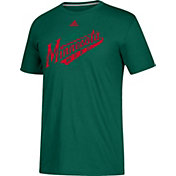 adidas Men's Minnesota Wild Go-To Shift Green Performance T-Shirt