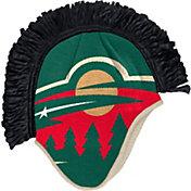 adidas Men's Minnesota Wild Mohawk Green Knit Beanie