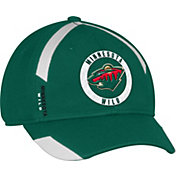 adidas Men's Minnesota Wild Practice Structured Green Flex Hat