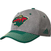 adidas Men's Minnesota Wild Two-Color Heather Grey/Green Snapback Adjustable Hat
