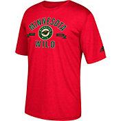 adidas Men's Minnesota Wild Misconduct Performance Red T-Shirt
