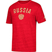 adidas Men's Russia City Worn Maroon Heathered T-Shirt