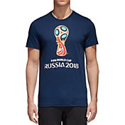 adidas Men's 2018 World Cup Russia Logo Navy T-Shirt