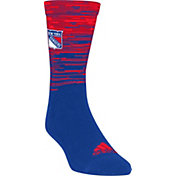 adidas New York Rangers Heathered Crew Socks